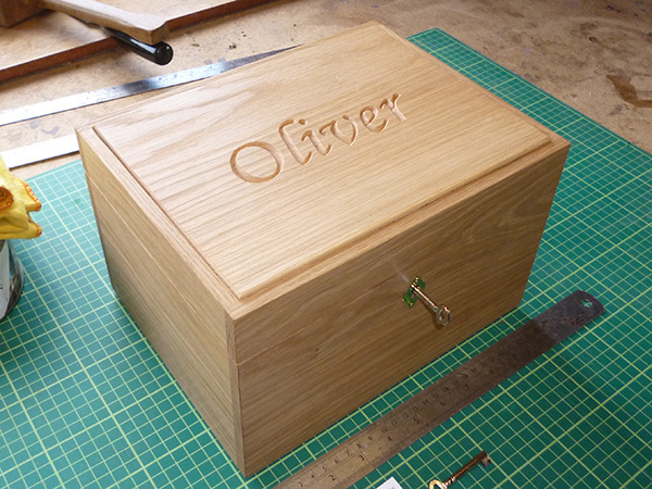 Large oak box