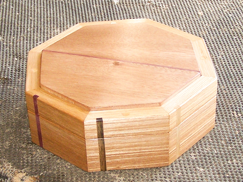 Wood Craft Box Red Lining